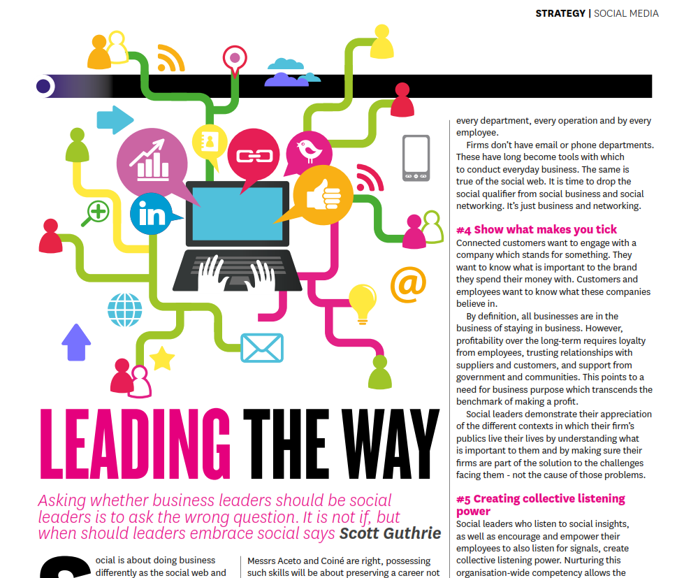 leading the way as social leaders by Scott Guthrie sabguthrie