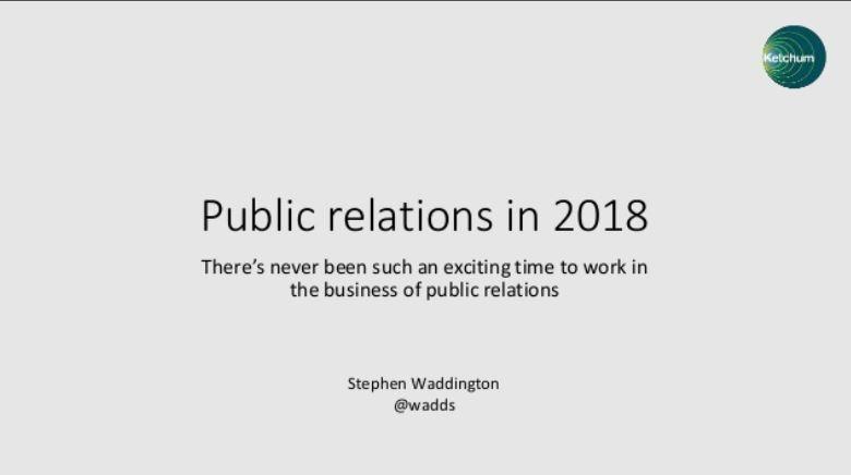 PR in 2018