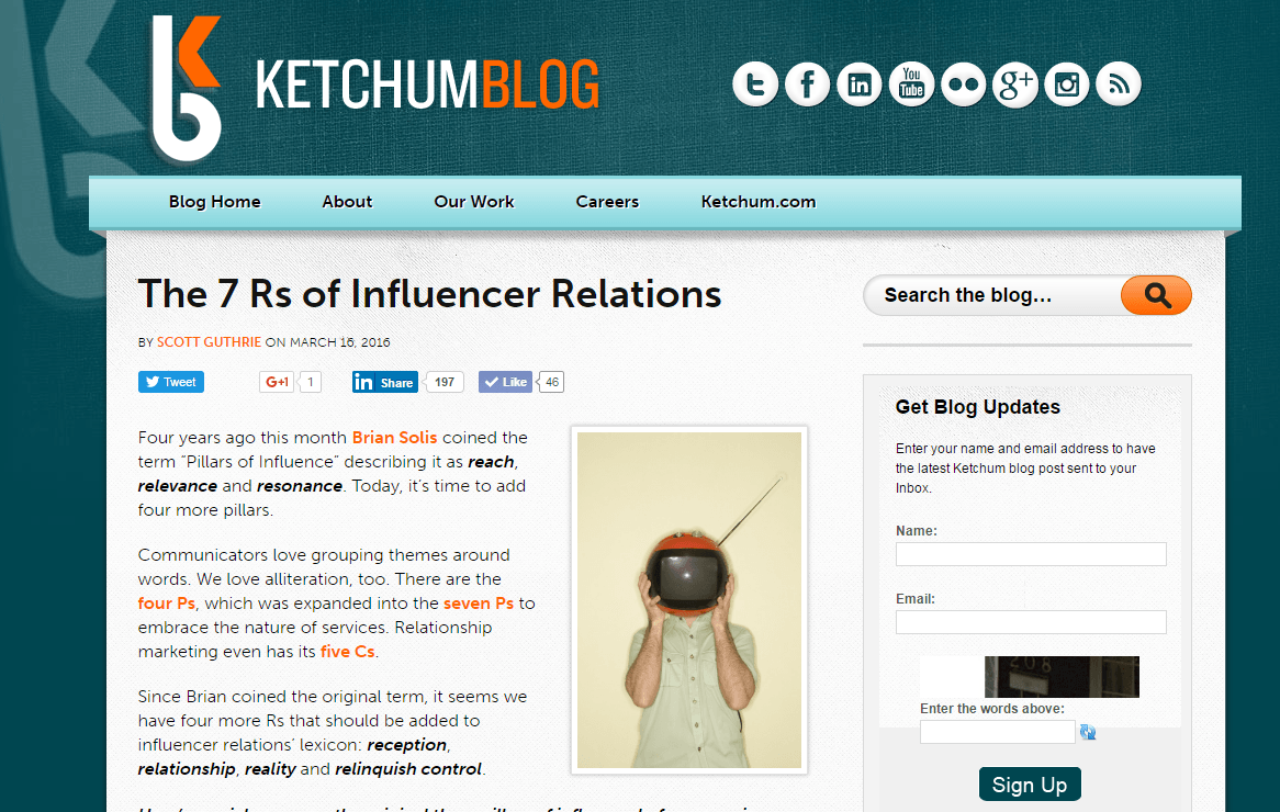 7 Rs of influencer relations Scott Guthrie sabguthrie
