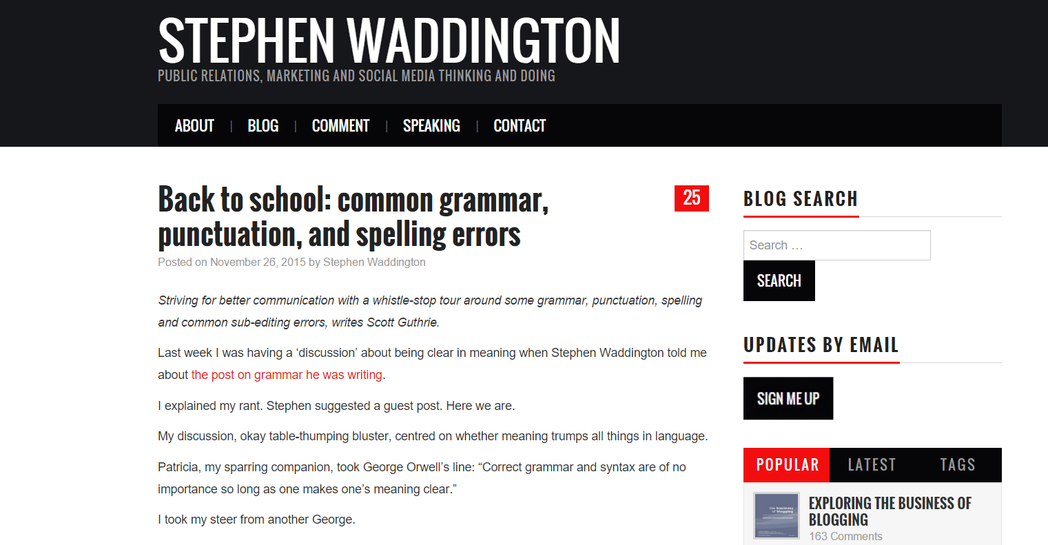 Back to school common grammar punctuation and spelling errors by Scott Guthrie sabguthrie