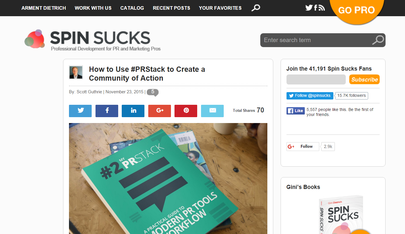 How to use #PRstack to create a community of action Scott Guthrie sabguthrie