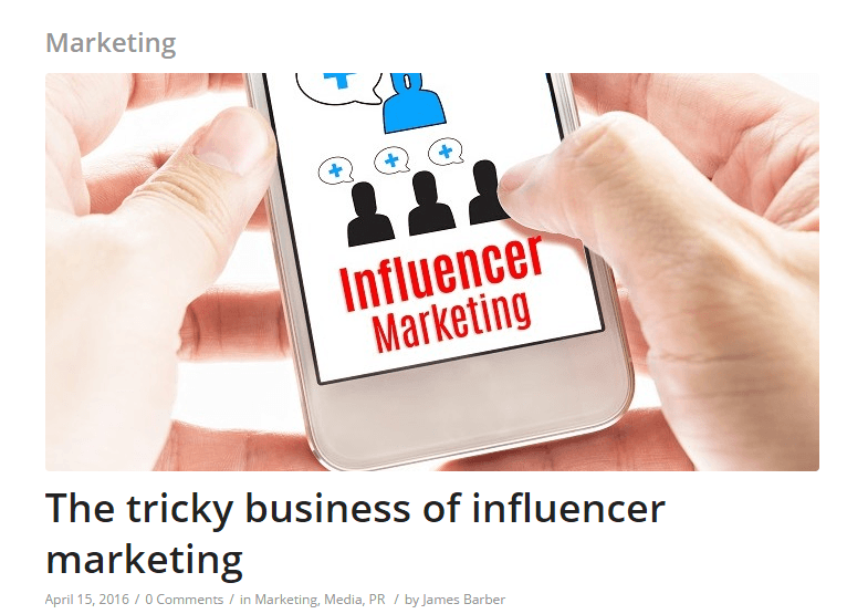 Vuelio the tricky business of influencer marketing scott guthrie sabguthrie