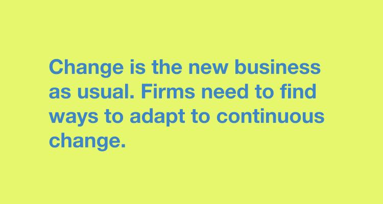change is new business as usual creative teams
