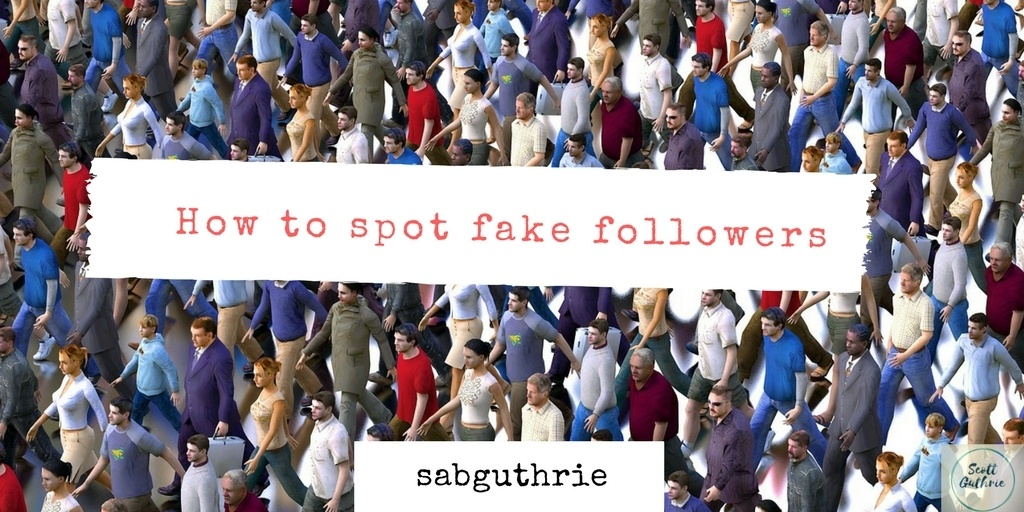 how to spot fake followers