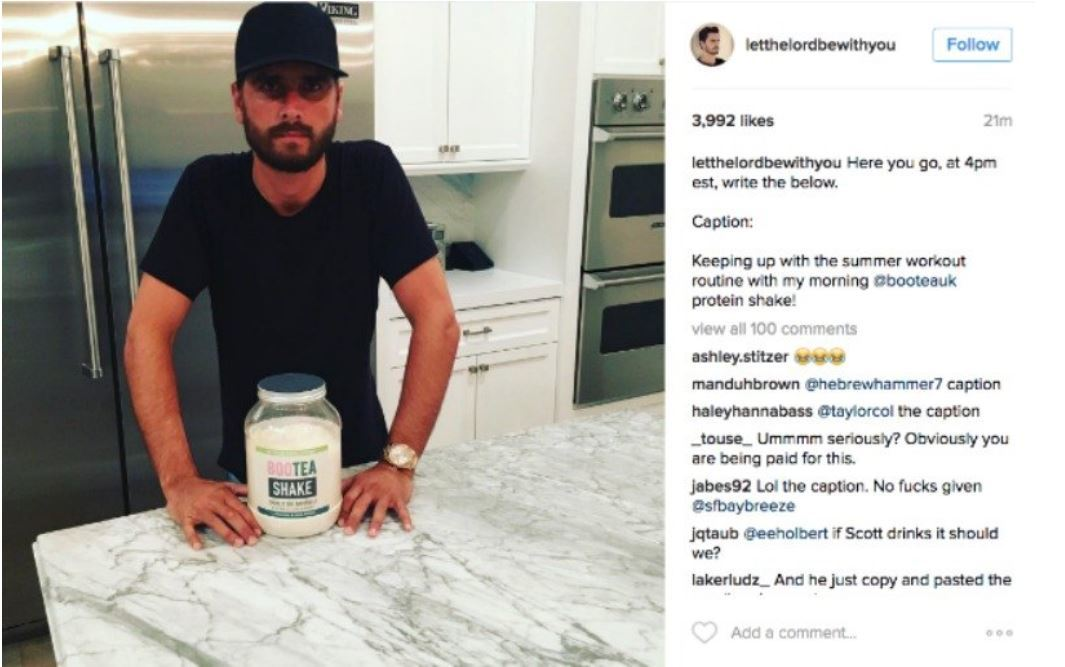 scott disick BANJO influencer marketing